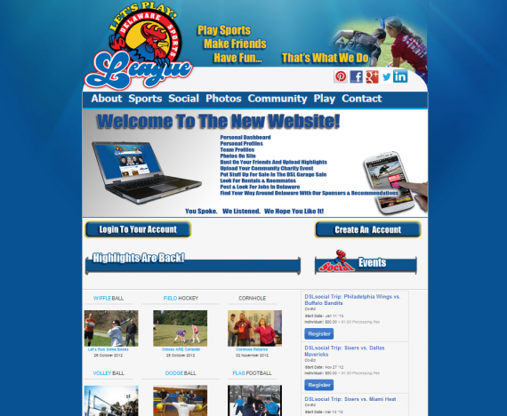 Delaware Sports League Homepage