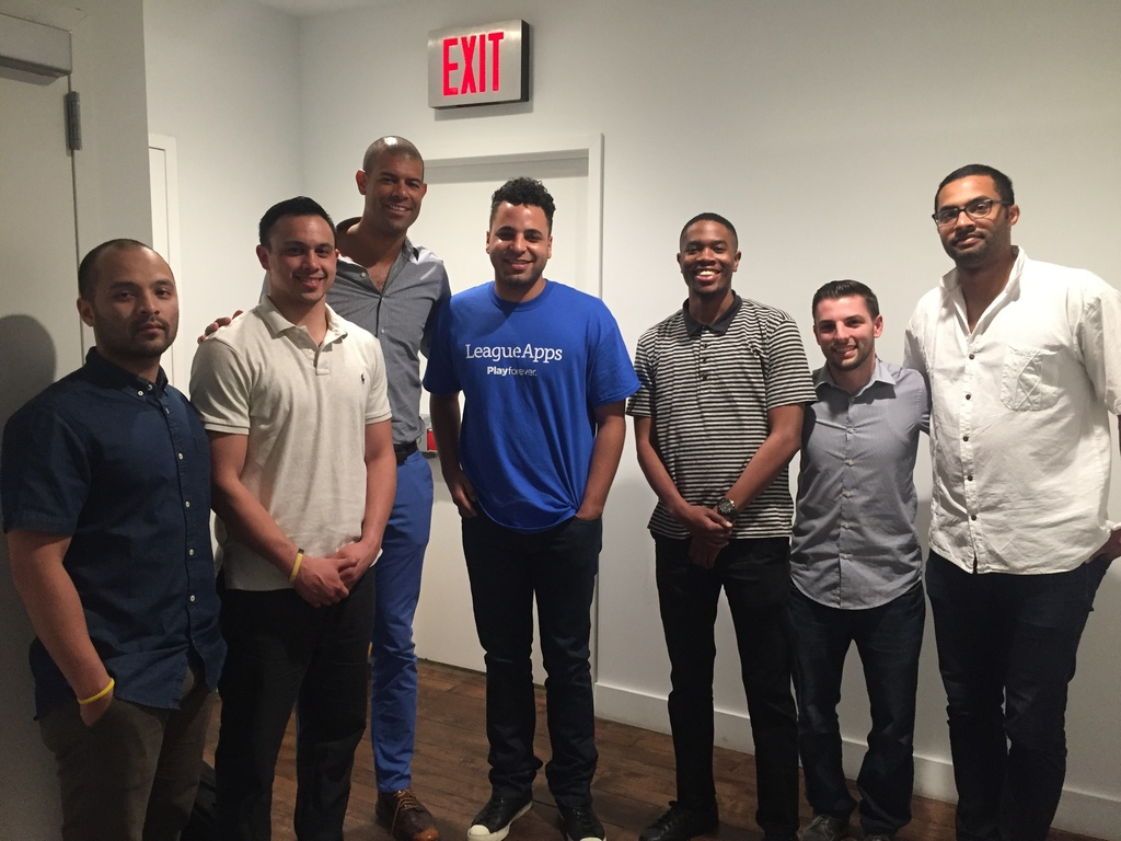 Shane Battier with the LeagueApps Hoops team
