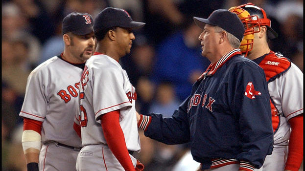 HISTORY LESSON: Manager Grady Little infamously left Pedro Martinez in Game 7 of the 2003 ALCS.